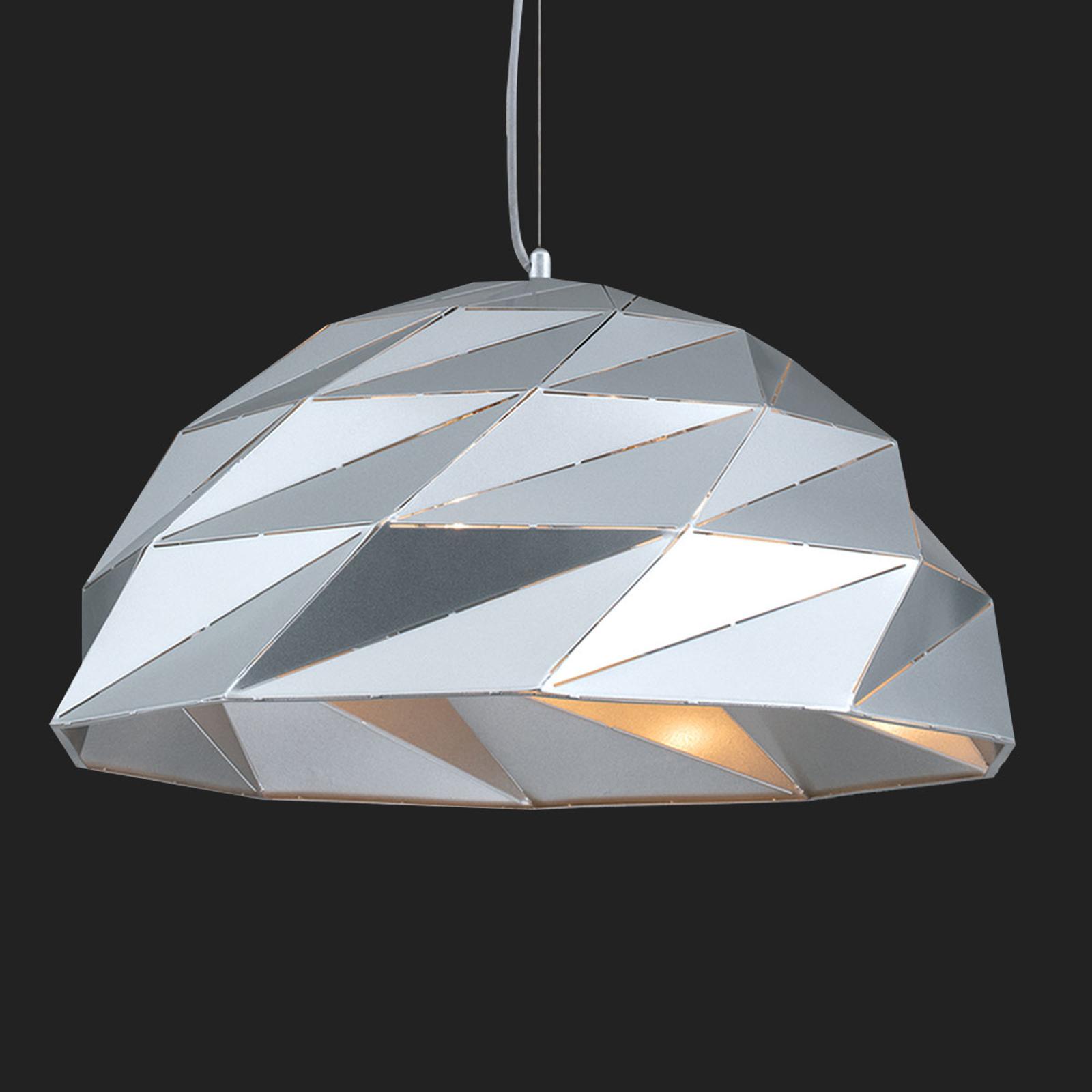 Lampa wisząca Origami Ø 56 cm srebrna