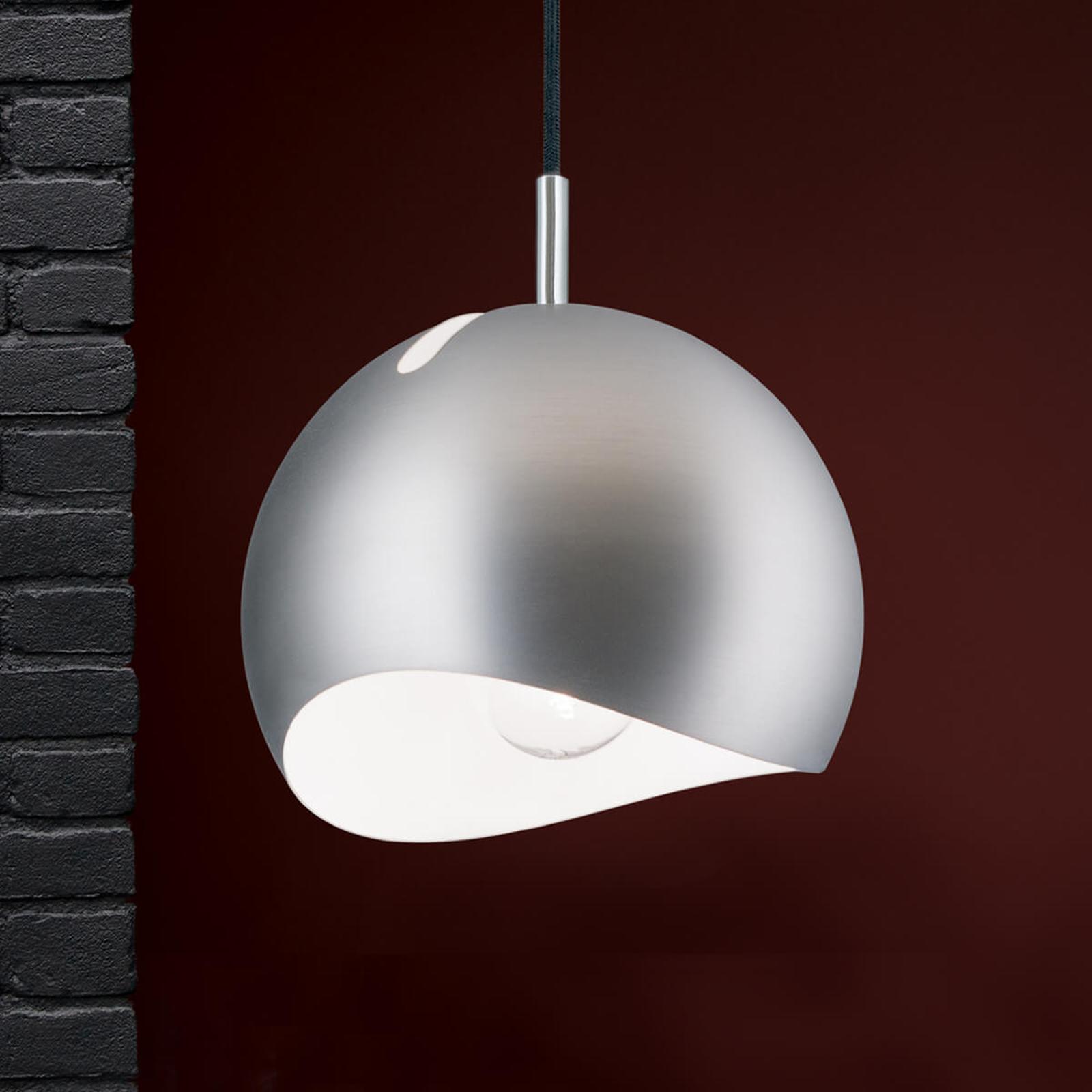 Bolvormige hanglamp Bowl - satijn