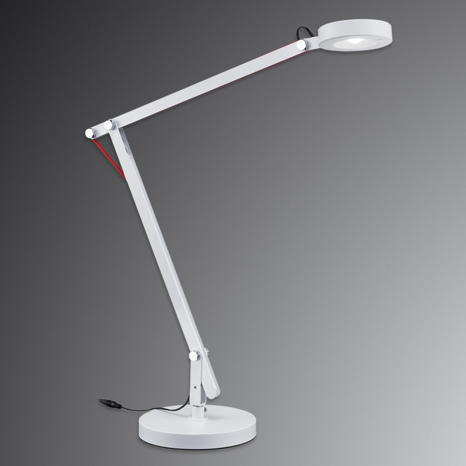 Amsterdam multifunktionel lampe i hvid, med LED