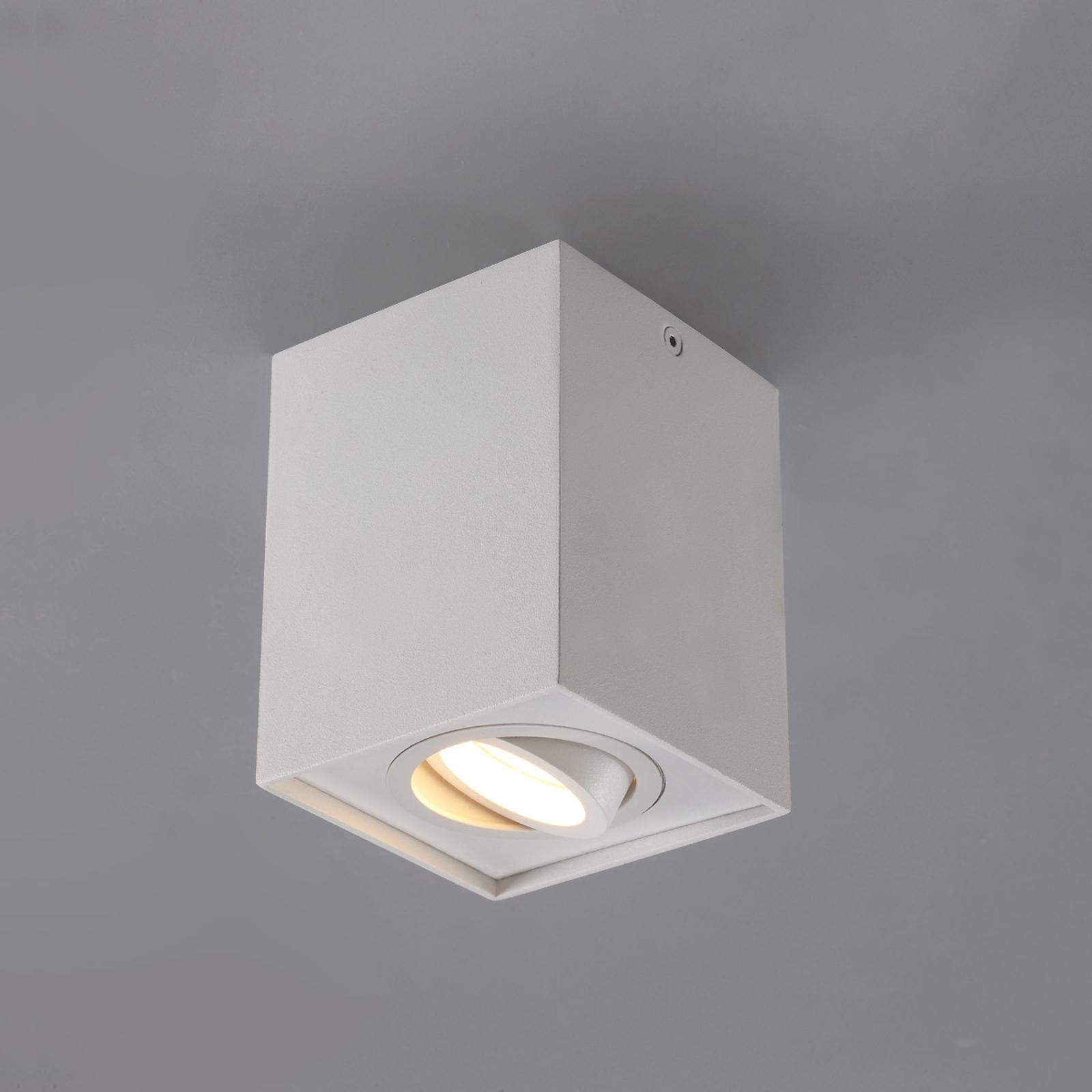 Spot de plafond rectangulaire GU10 Mikail blanc