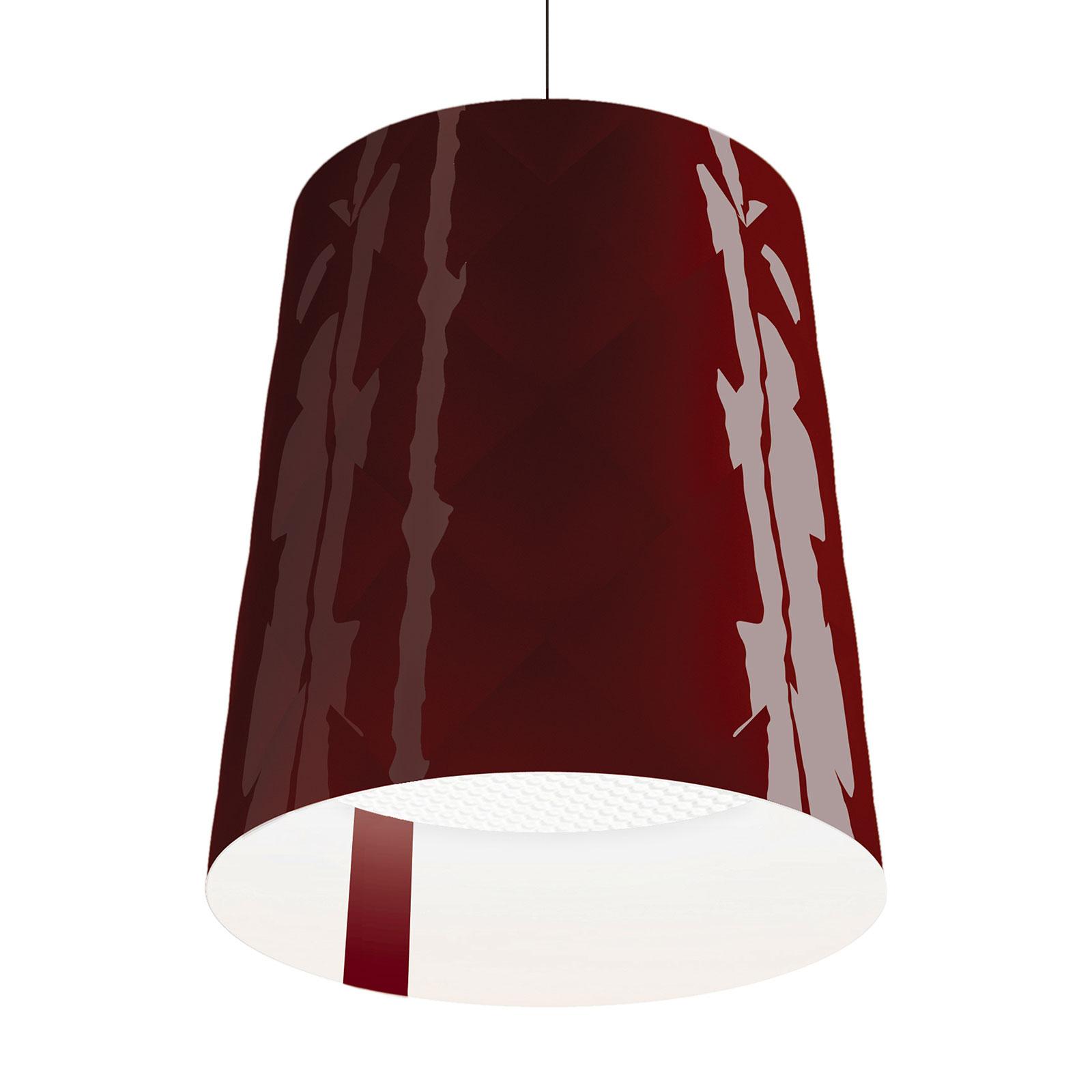 Kundalini New York lampa wisząca Ø 45 cm, czerwona