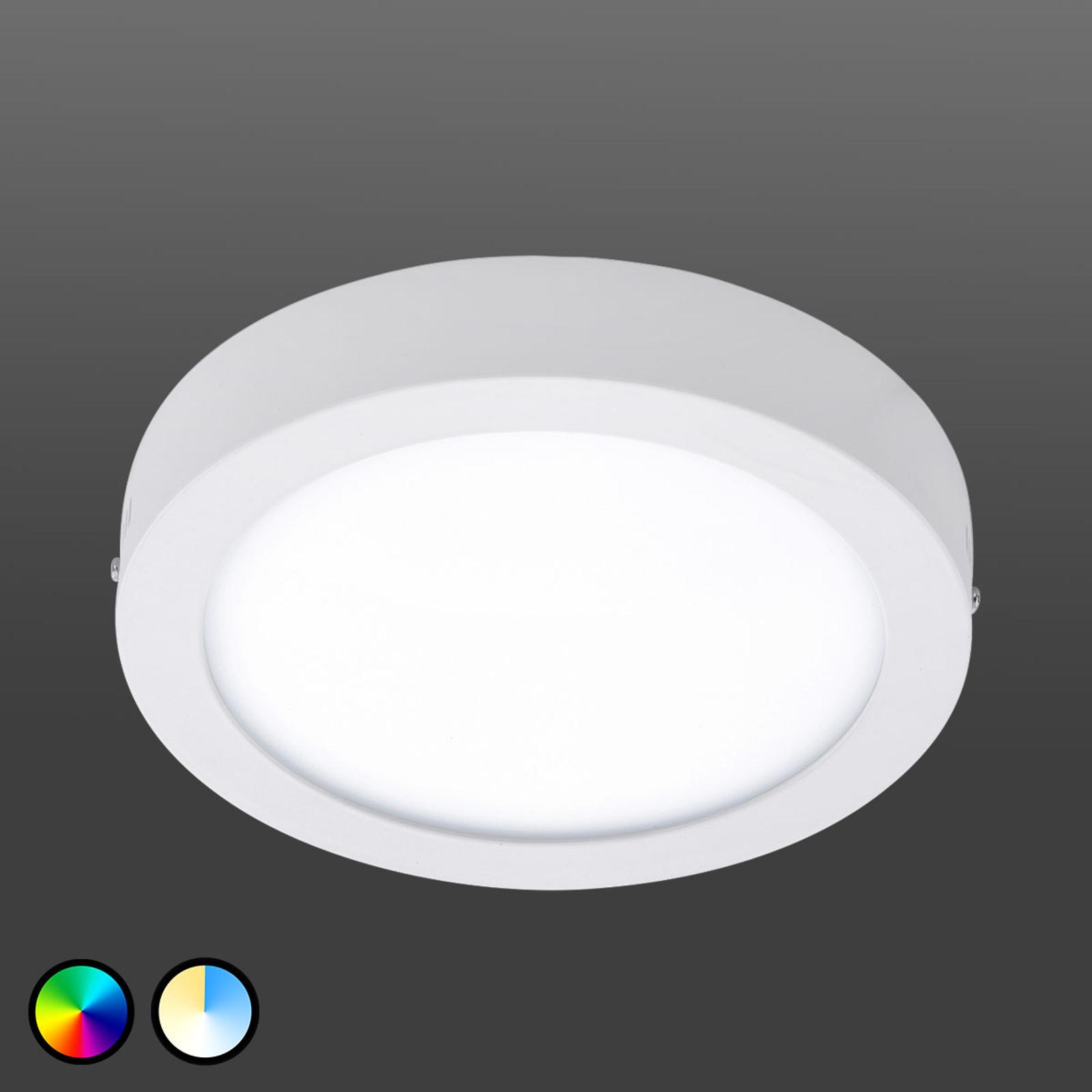 Fueva-Connect – lampa sufitowa LED, 22,5cm, biała