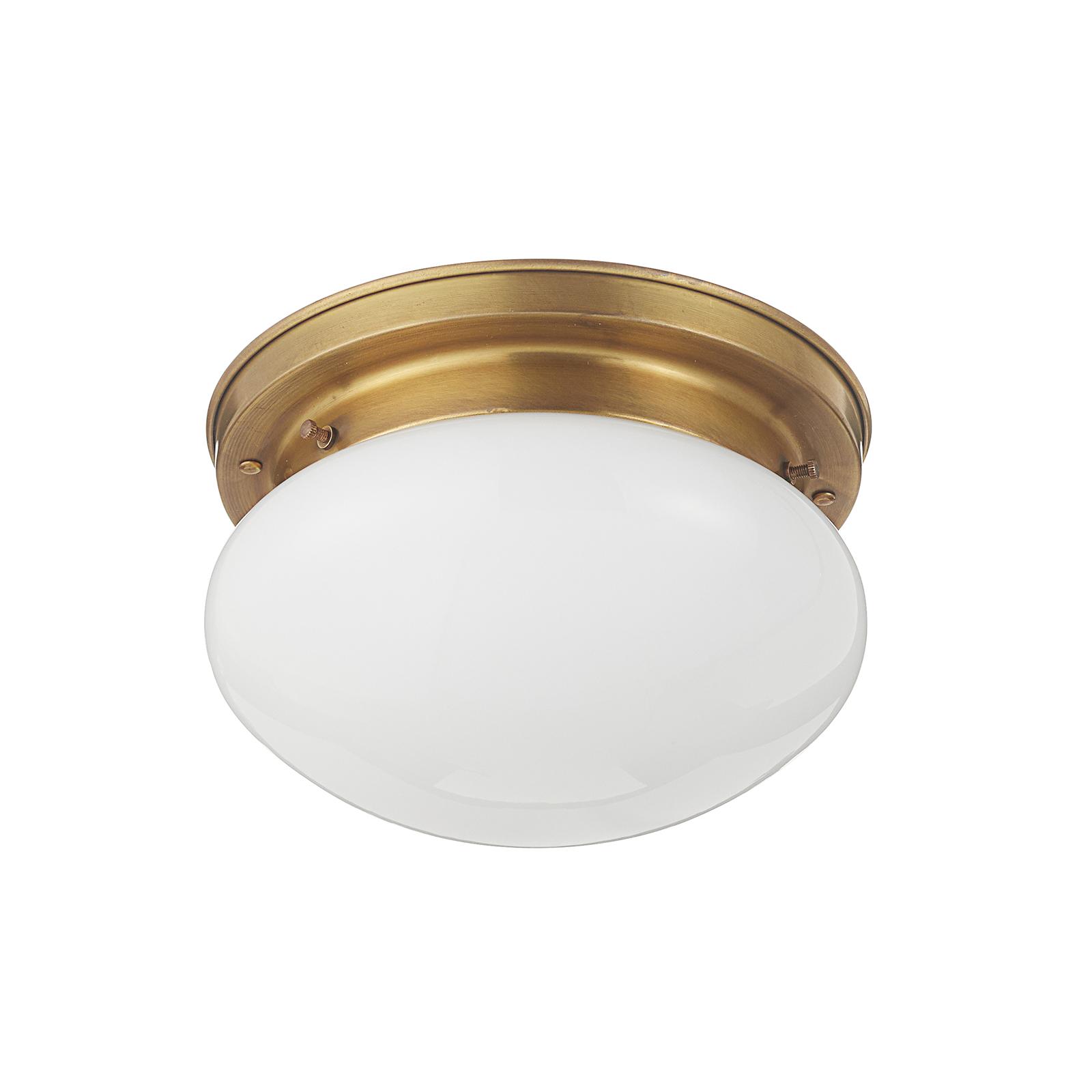 Opálové stropné svietidlo HARRY s mosadzou