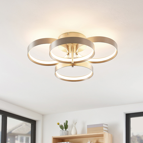 Lucande Naylia LED stropní světlo, nikl