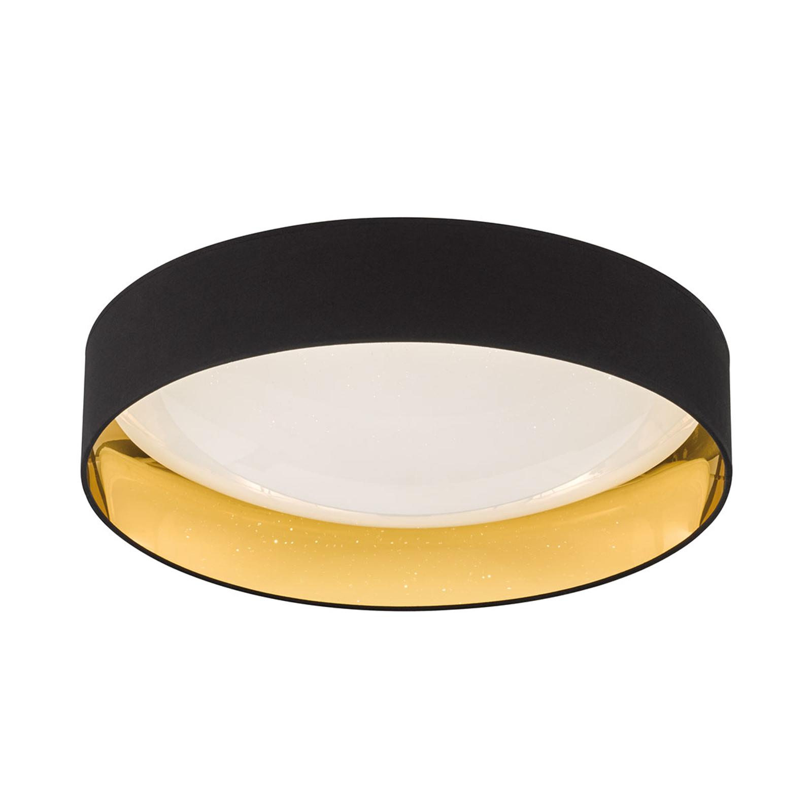 Czarno-złota lampa sufitowa LED Sete Ø 60 cm