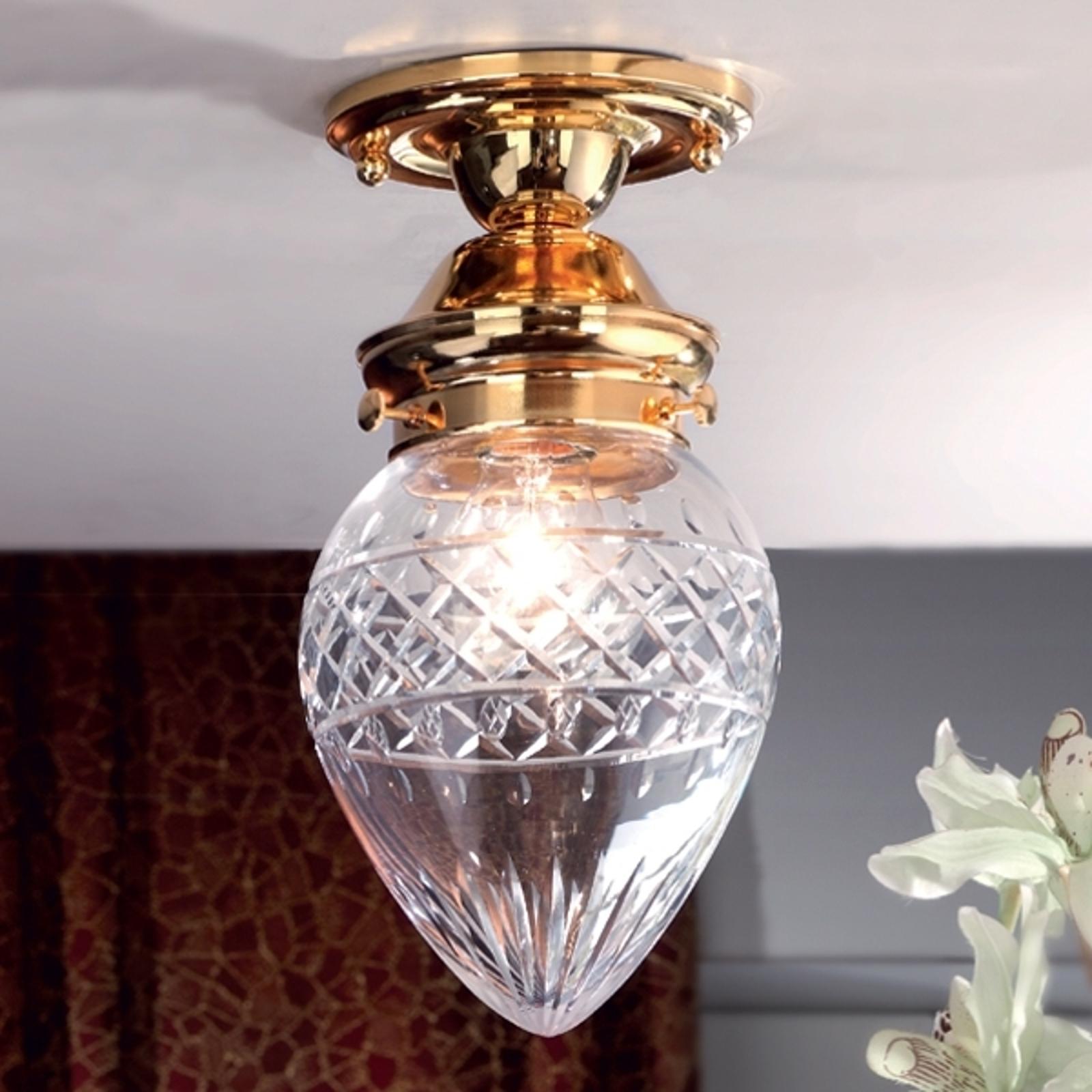Kalkformet BUDAPEST loftlampe med Ø 15 cm