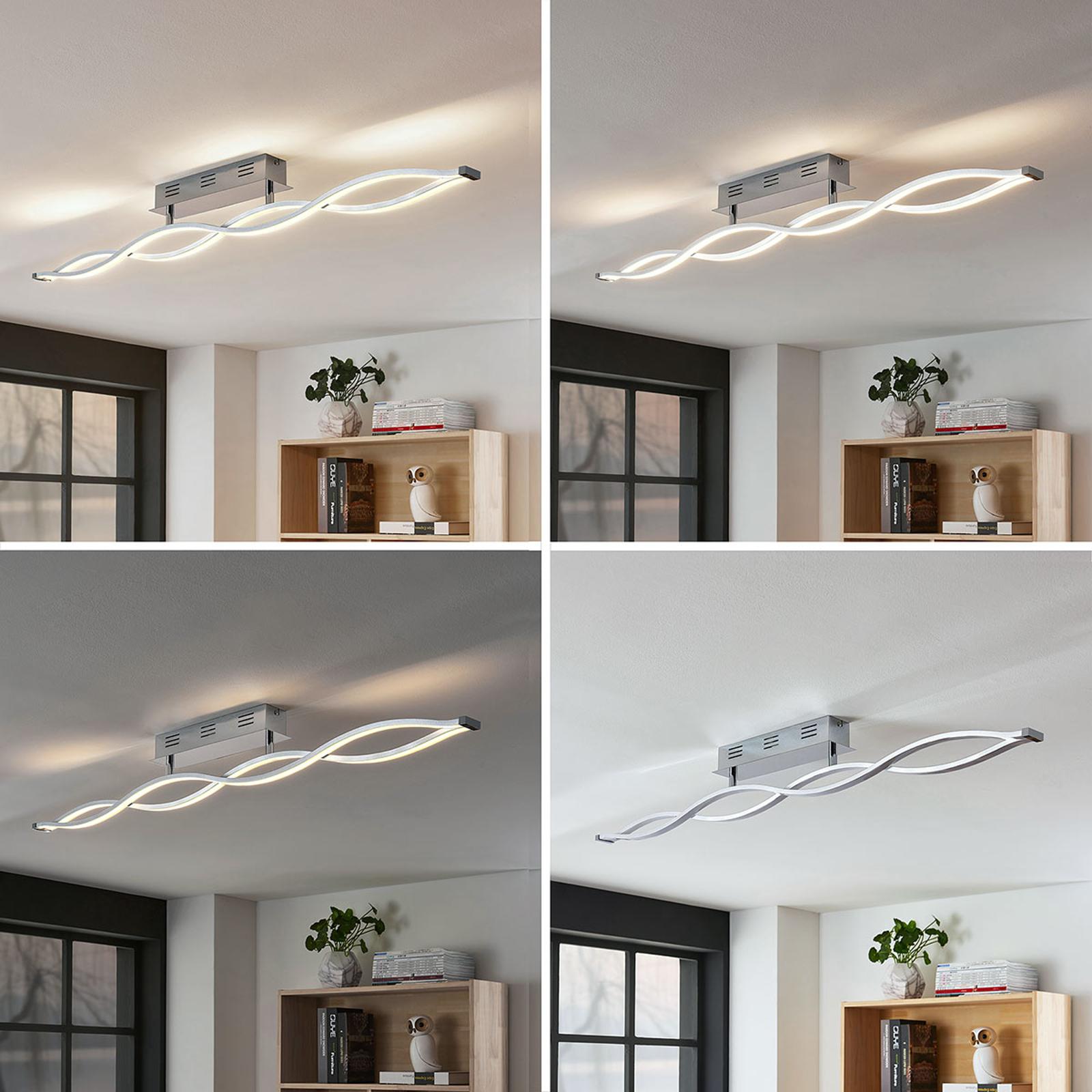 LED stropní svítidlo Roan ve tvaru vlny