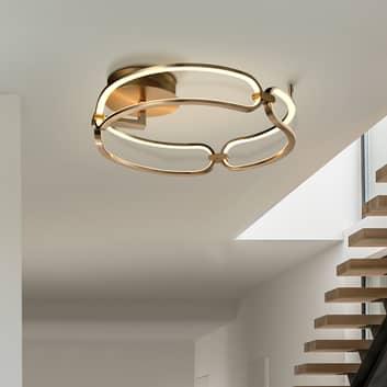 LED plafondlamp Colette, 3-lamps, goud