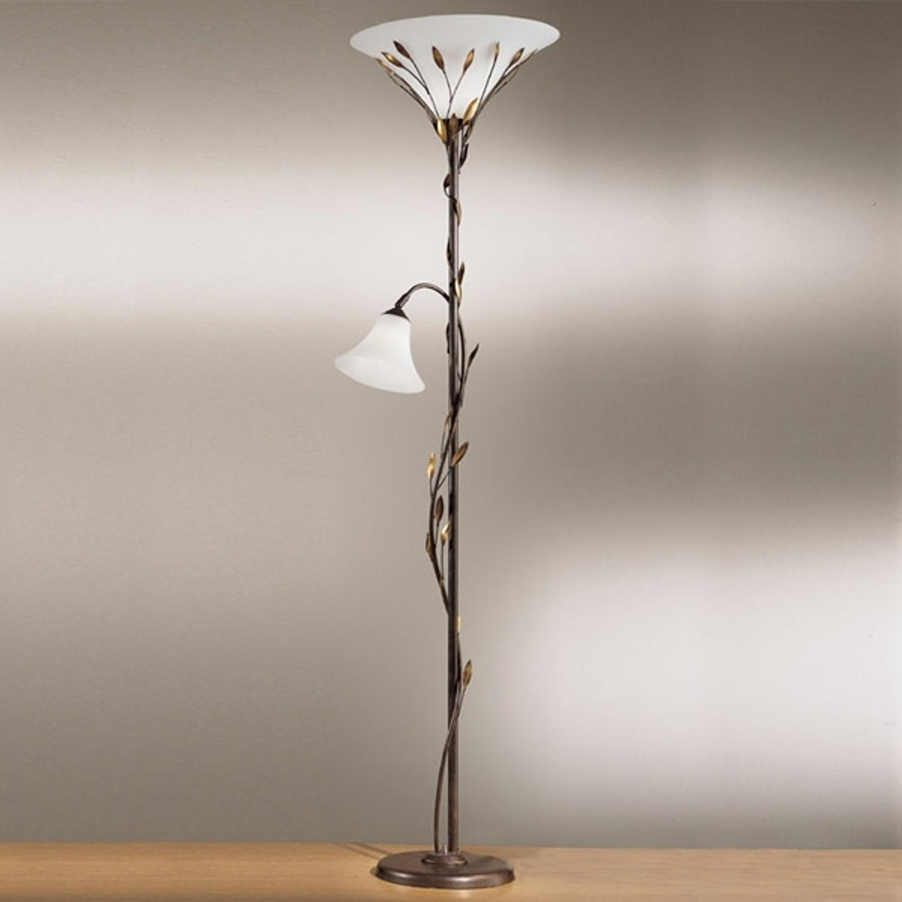 Lampa stojąca oświetlająca sufit CAMPANA