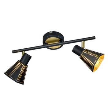 Houston - zwart-gouden plafondlamp