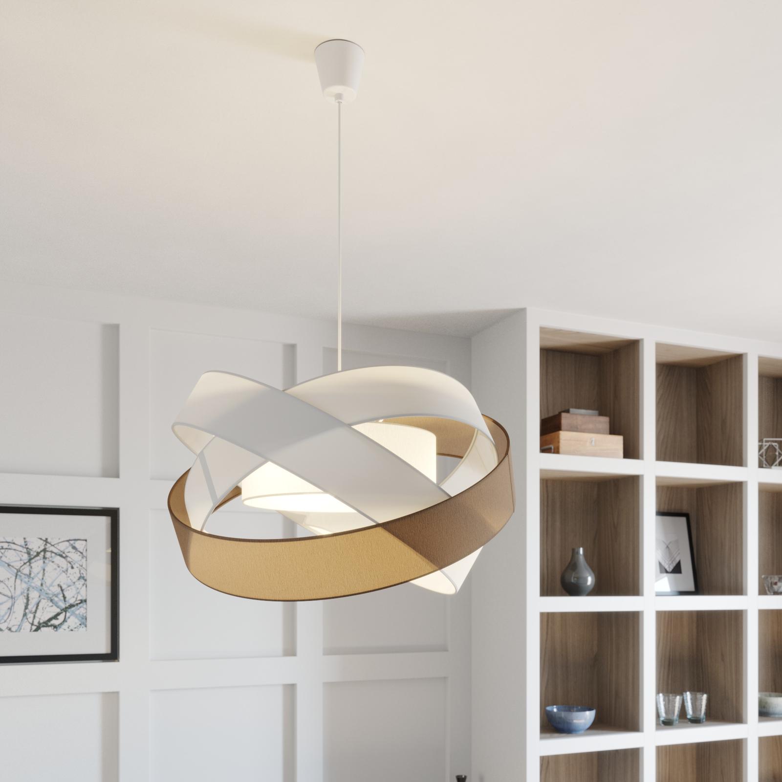 Lindby Simaria lampa wisząca, brązowa/szara/biała