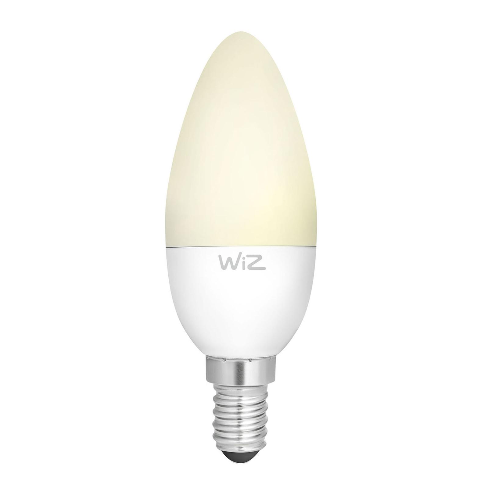 WiZ E14 LED-Lampe Kerze matt 9W 2.700K