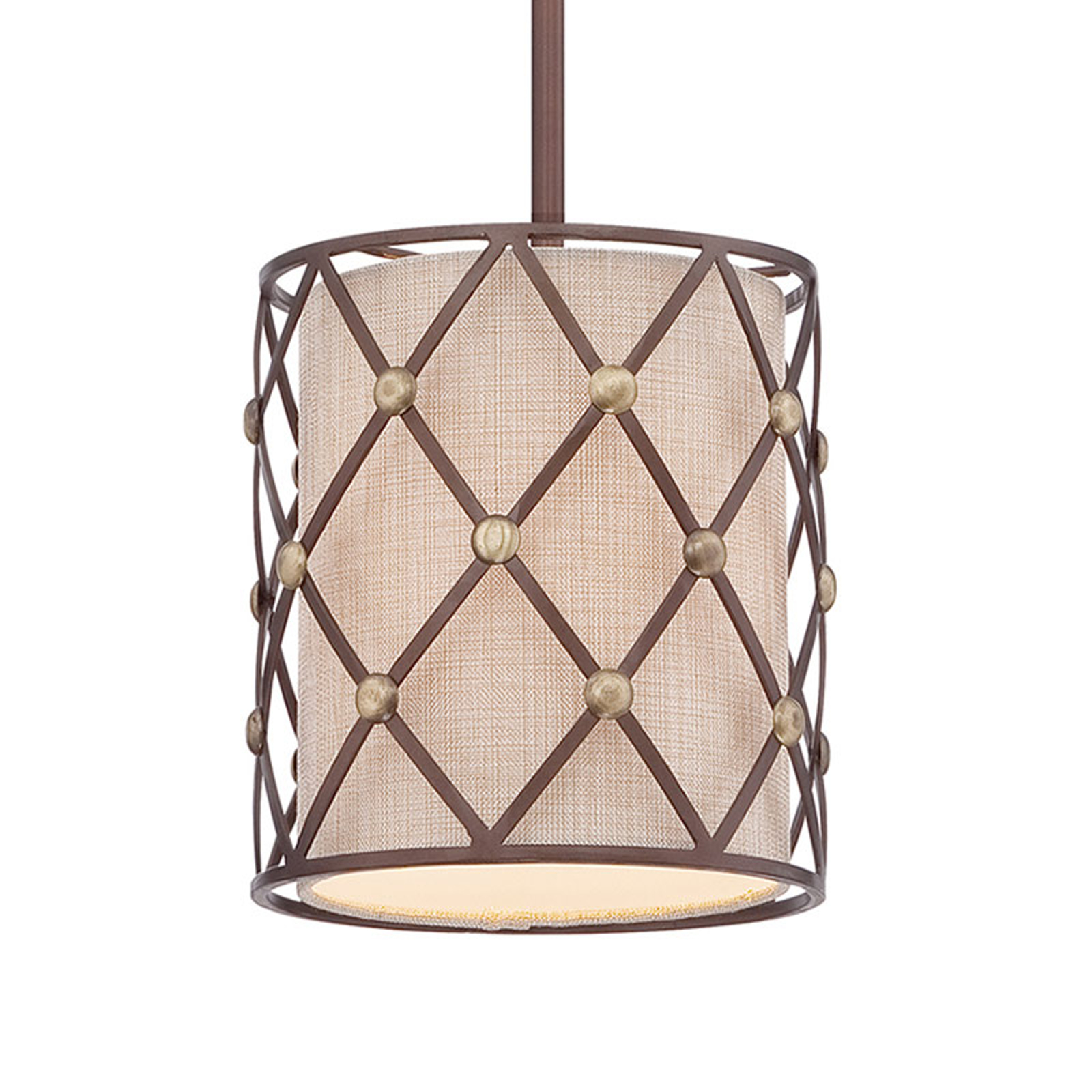 Lampa wisząca Brown Lattice Ø 20,3 cm