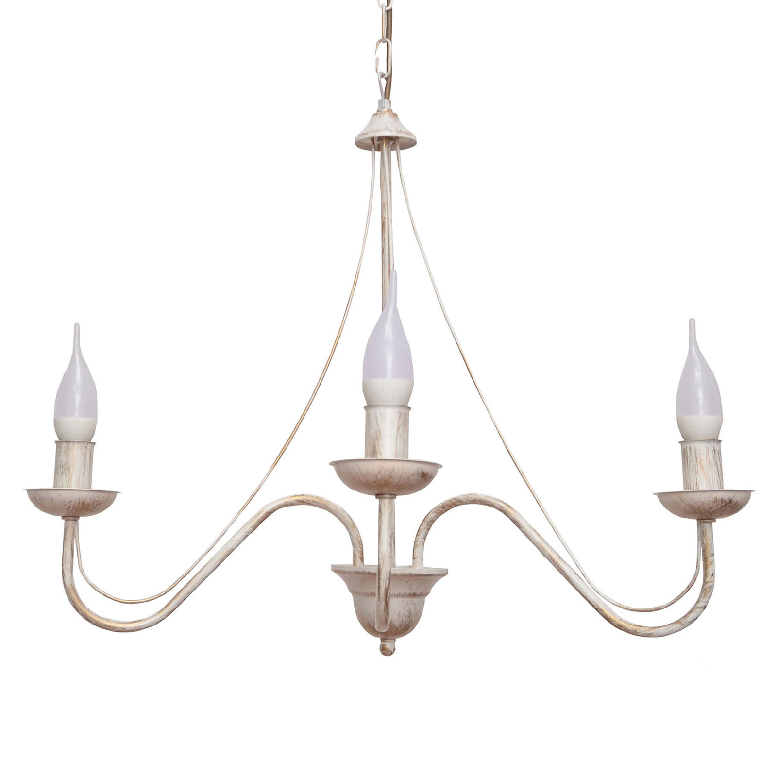 Kroonluchter Malbo 3-lamps in wit