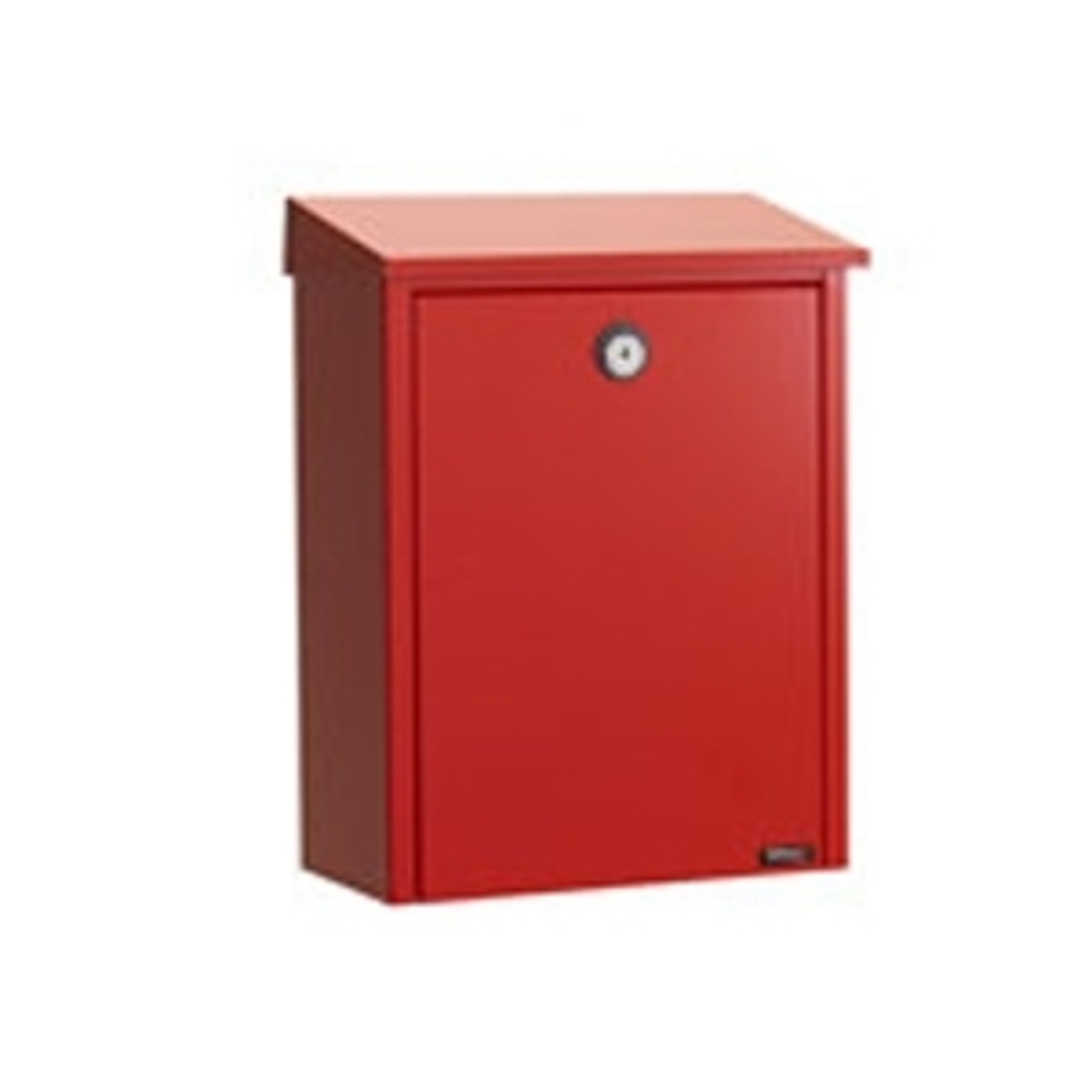 Einfacher Briefkasten aus Stahl, rot