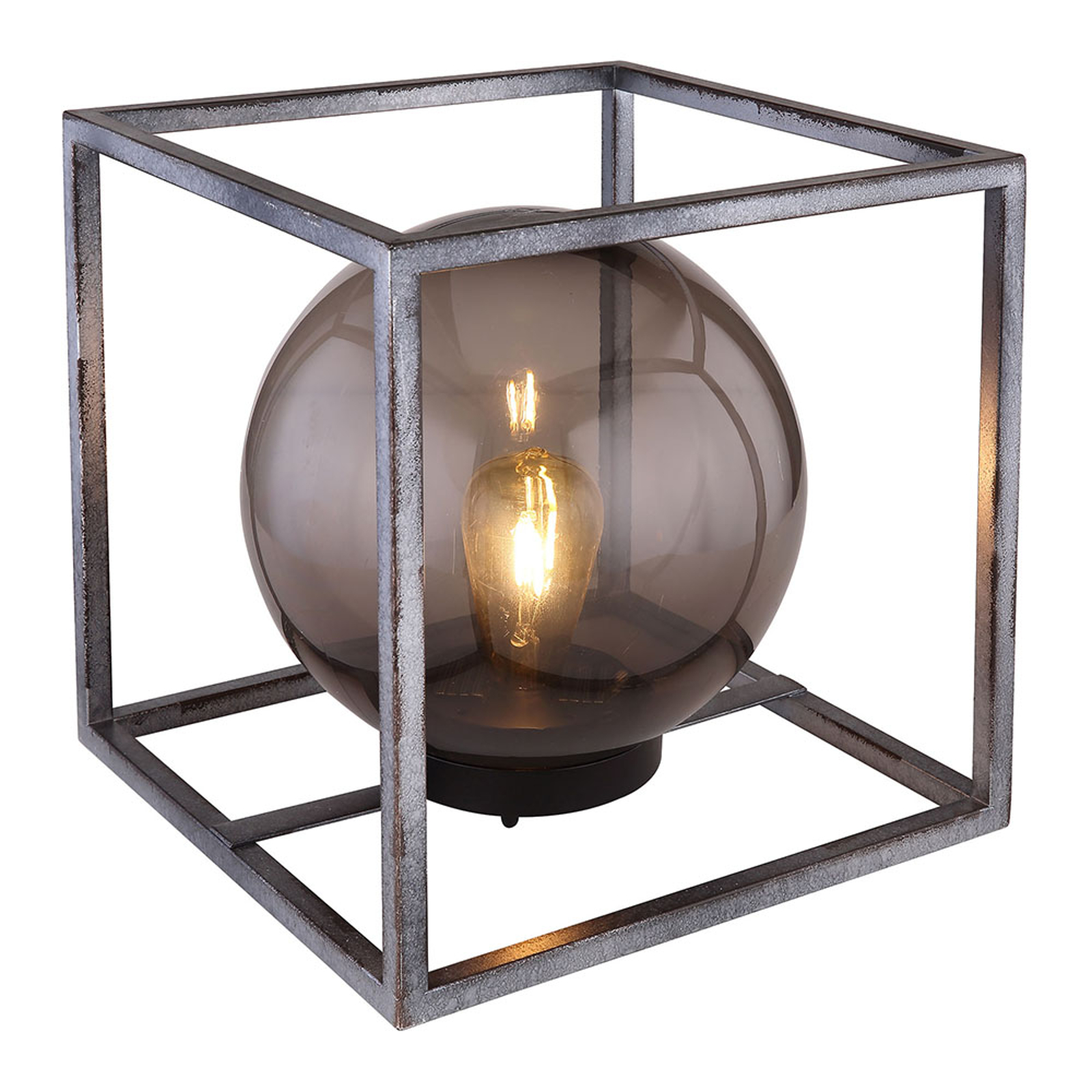 LED-Solar-Dekoleuchte Würfel mit Kugel, 30 cm