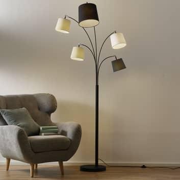 By Rydéns Foggy stojací lampa, 5 stínidel, černá