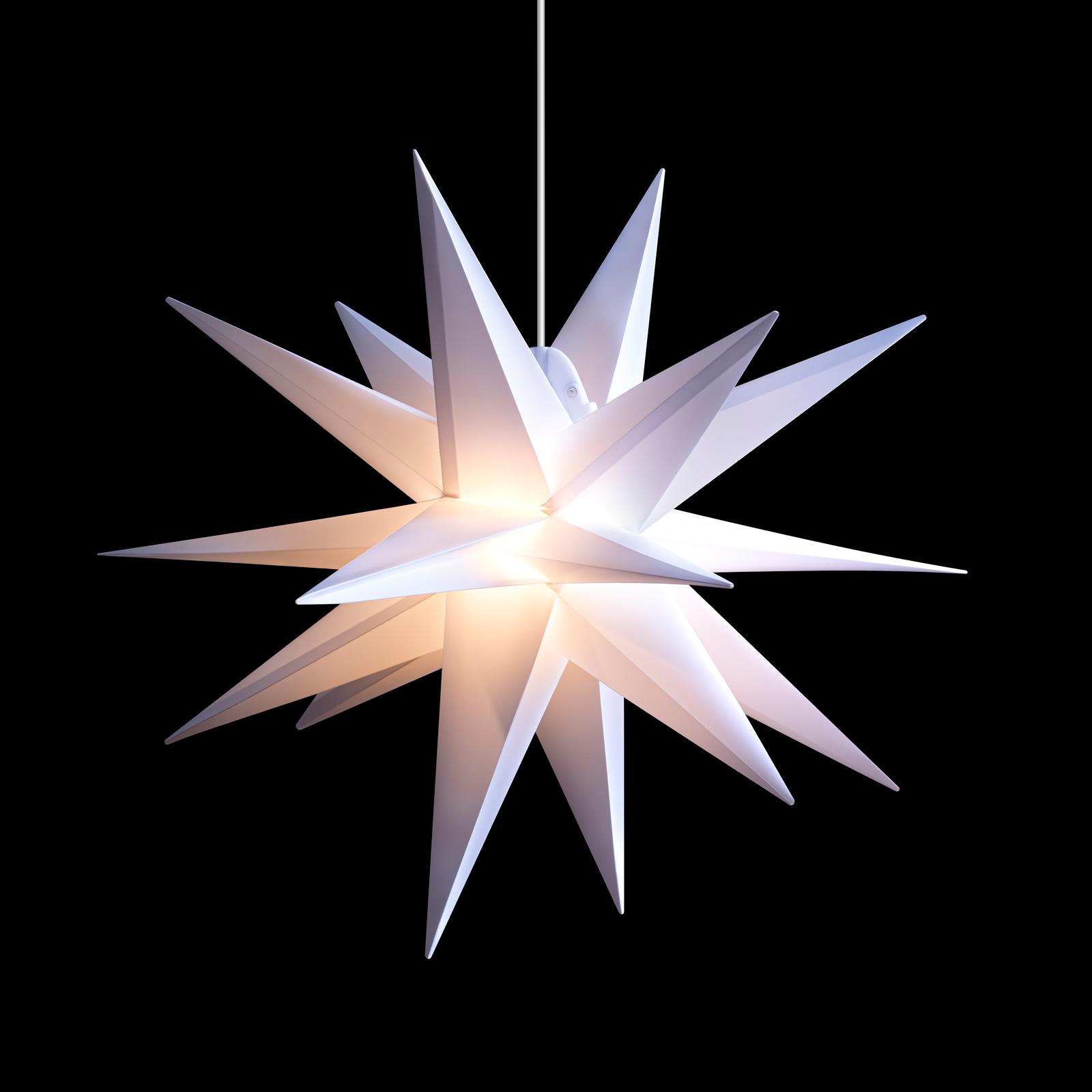 LED-Stern für außen, 18-Zacker, weiß, Ø 55 cm