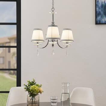 Lindby Haldir kroonluchter, 3-lamps, chroom