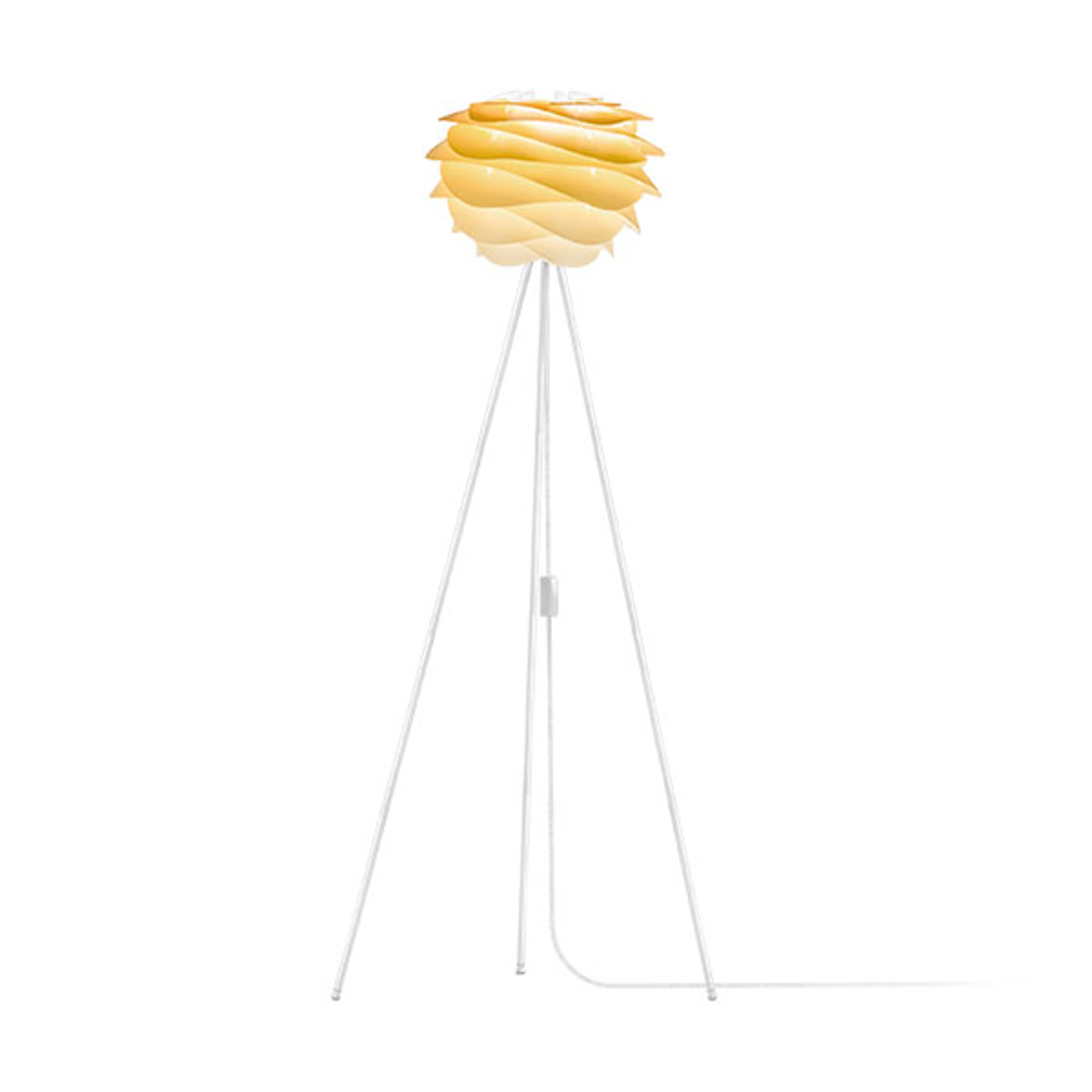 UMAGE Carmina Mini vloerlamp geel/tripod wit