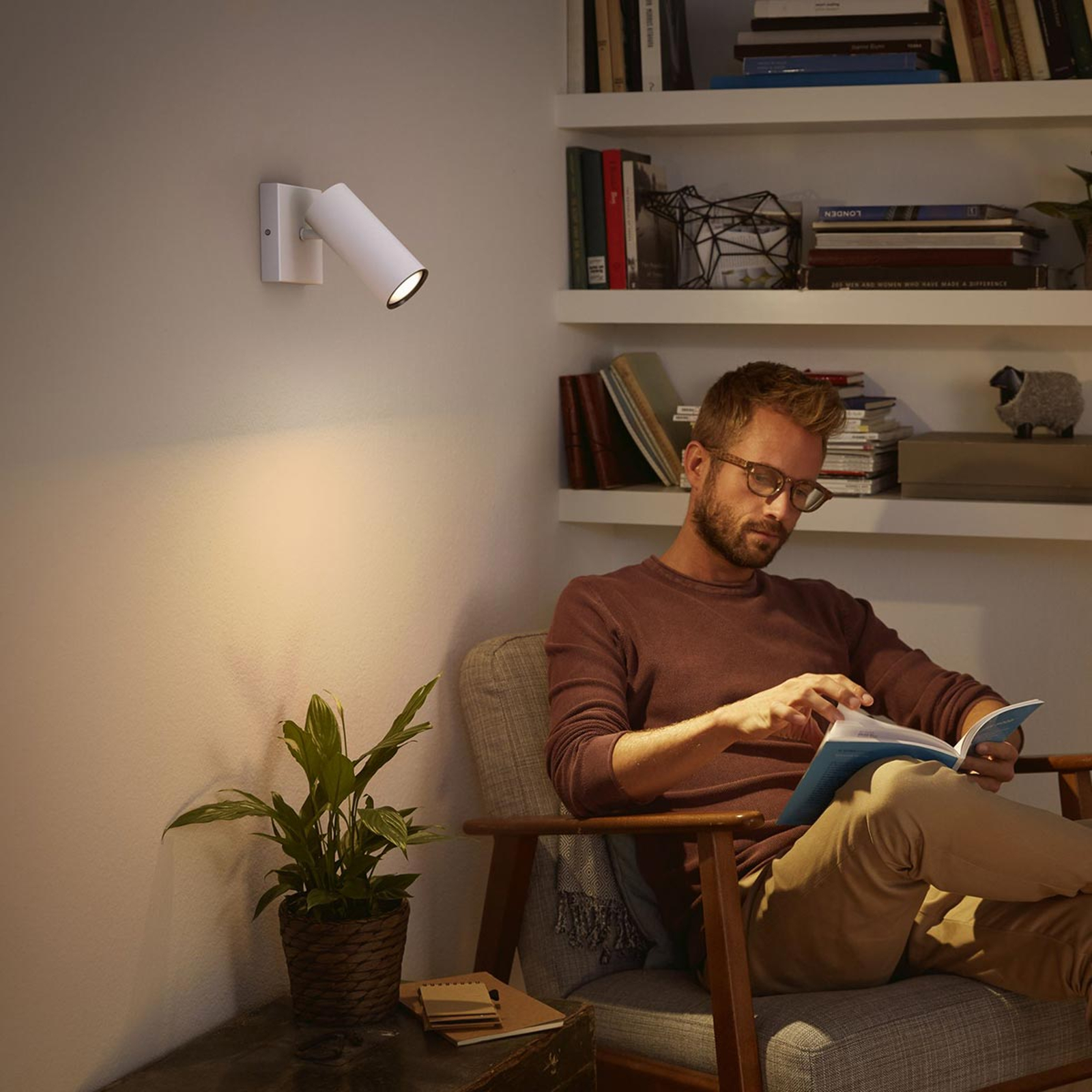 Philips Hue Buratto LED-Spot weiß 1fl Dimmschalter