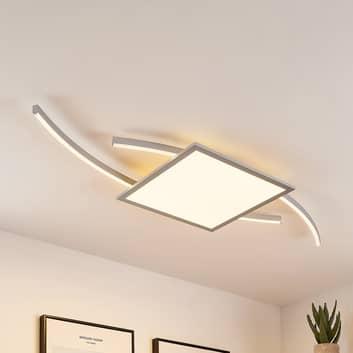 Lucande Tiaro plafoniera LED angolare 40 cm, CCT