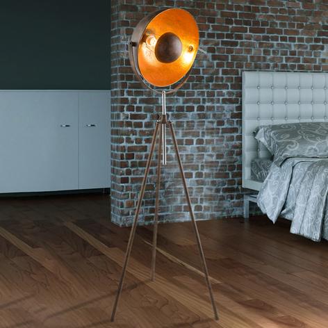 Lámpara de pie oxidada trípode Xirena I