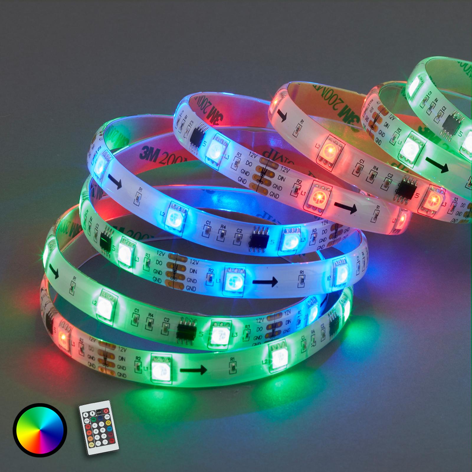 Med 164 lysfunksjoner - 500 cm RGB LED-stripe Mo