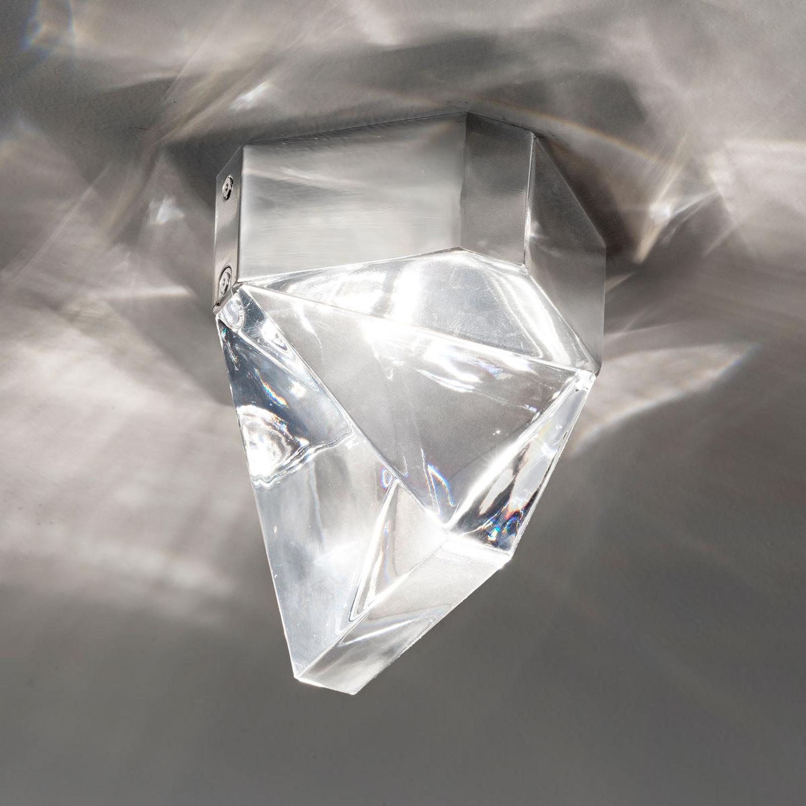 Fabbian Tripla - LED-Kristall-Deckenleuchte, alu