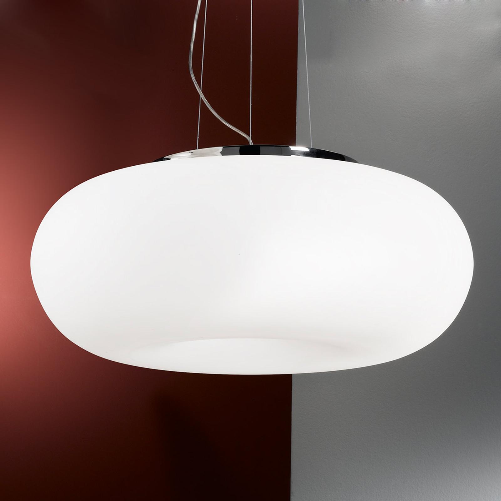 Lampa wisząca PHILIPP z dmuchanego szkła