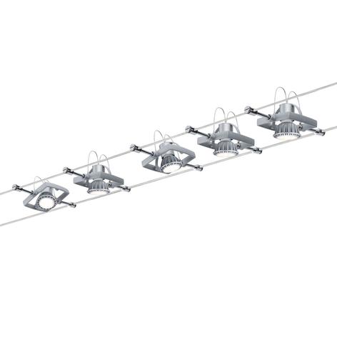 Paulmann Mac II Seilsystem, Chrom matt mit 5 Spots
