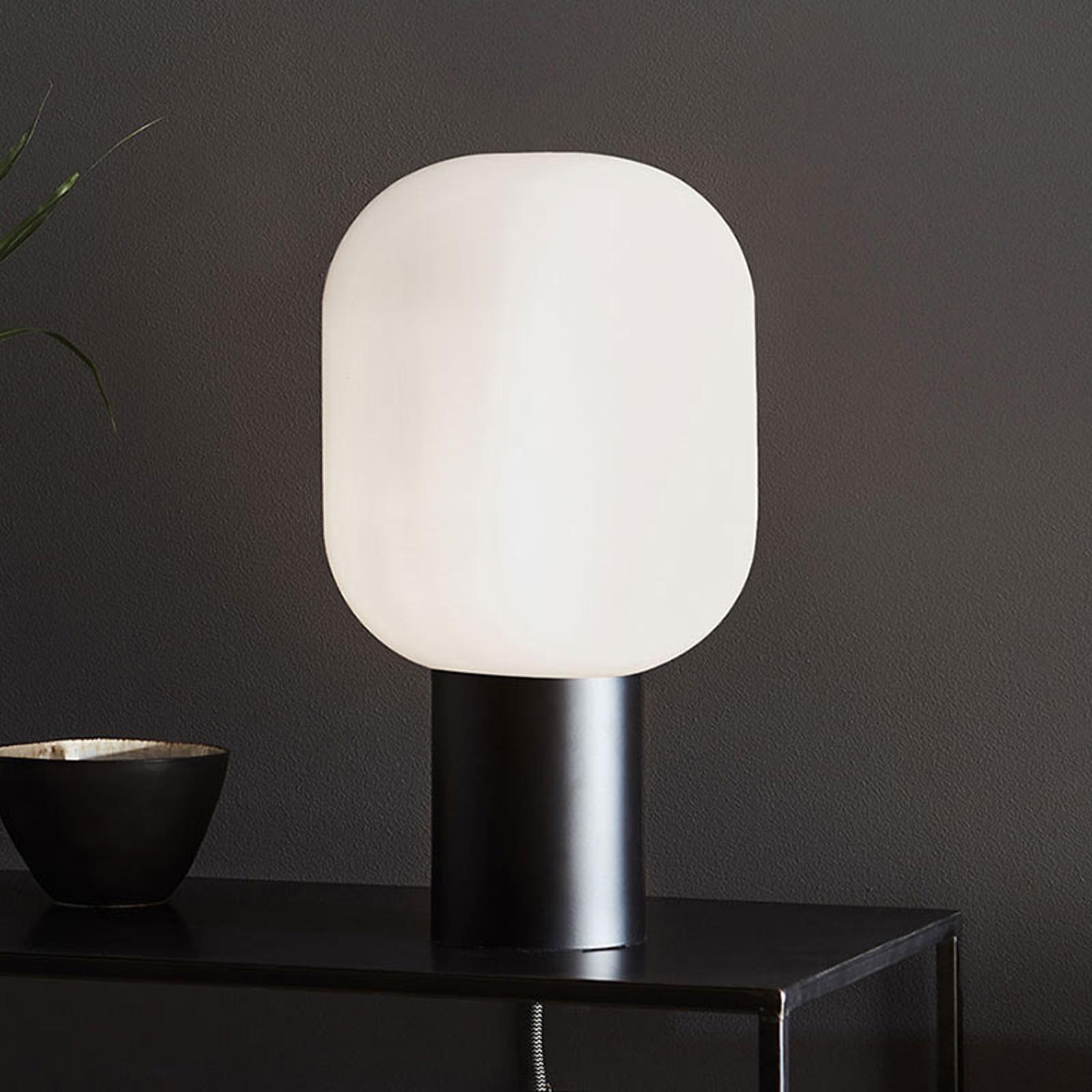 Brooklyn bordlampe, opalhvid glasskærm, 44 cm
