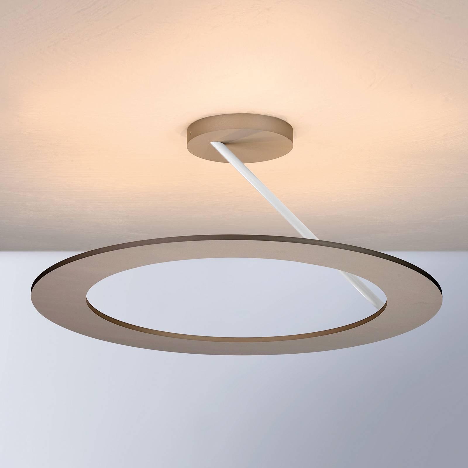 Bopp Stella lampa sufitowa Ø 45cm taupe/biała