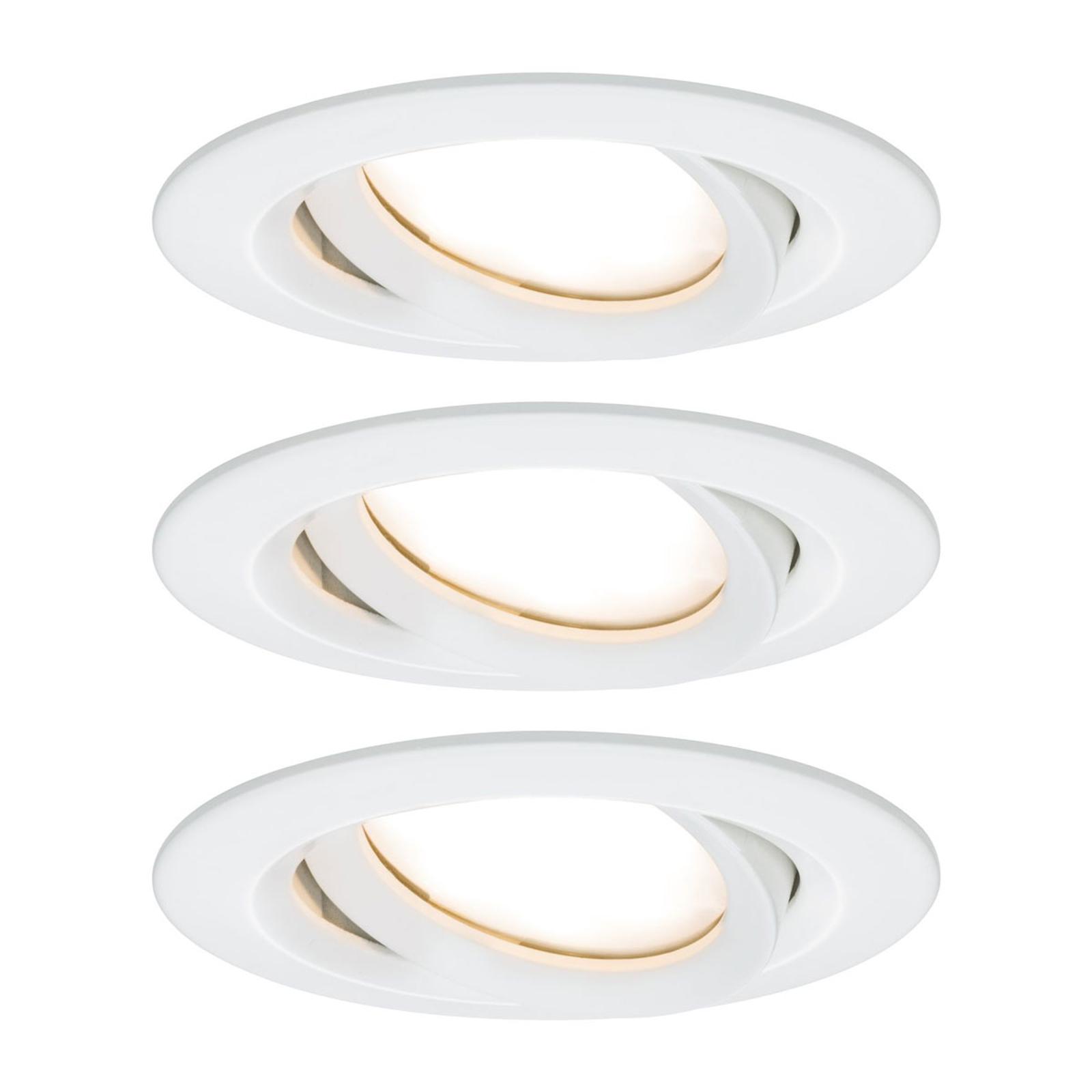 Paulmann Nova Plus 3er LED-plass rund hvit