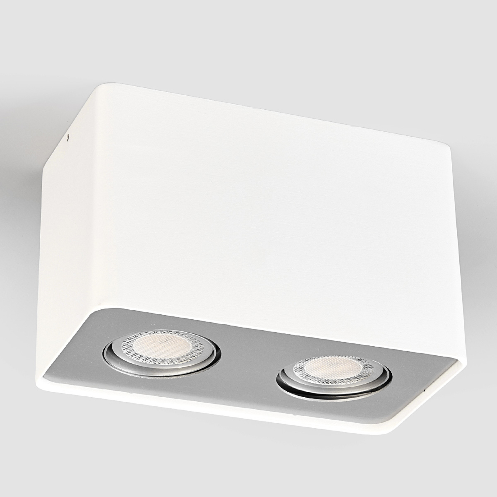 Downlight LED Giliano à 2 lampes angulaire, blanc