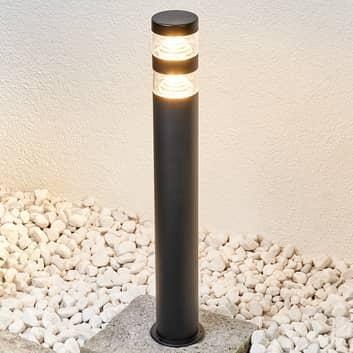 Gatelampe Lanea av rustfritt stål med LED-lys