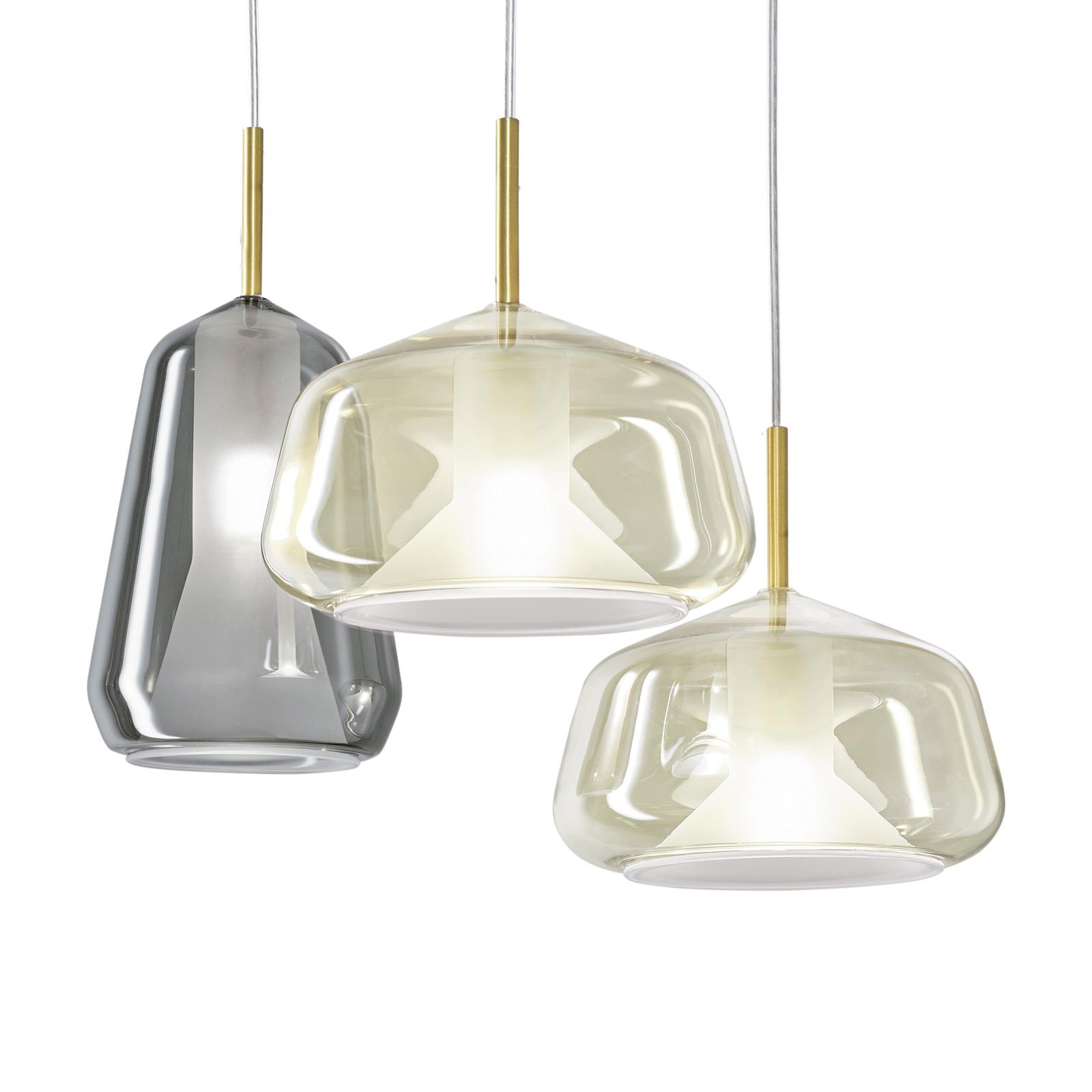 Suspension X-Ray à 3 lampes fumée/miel/miel
