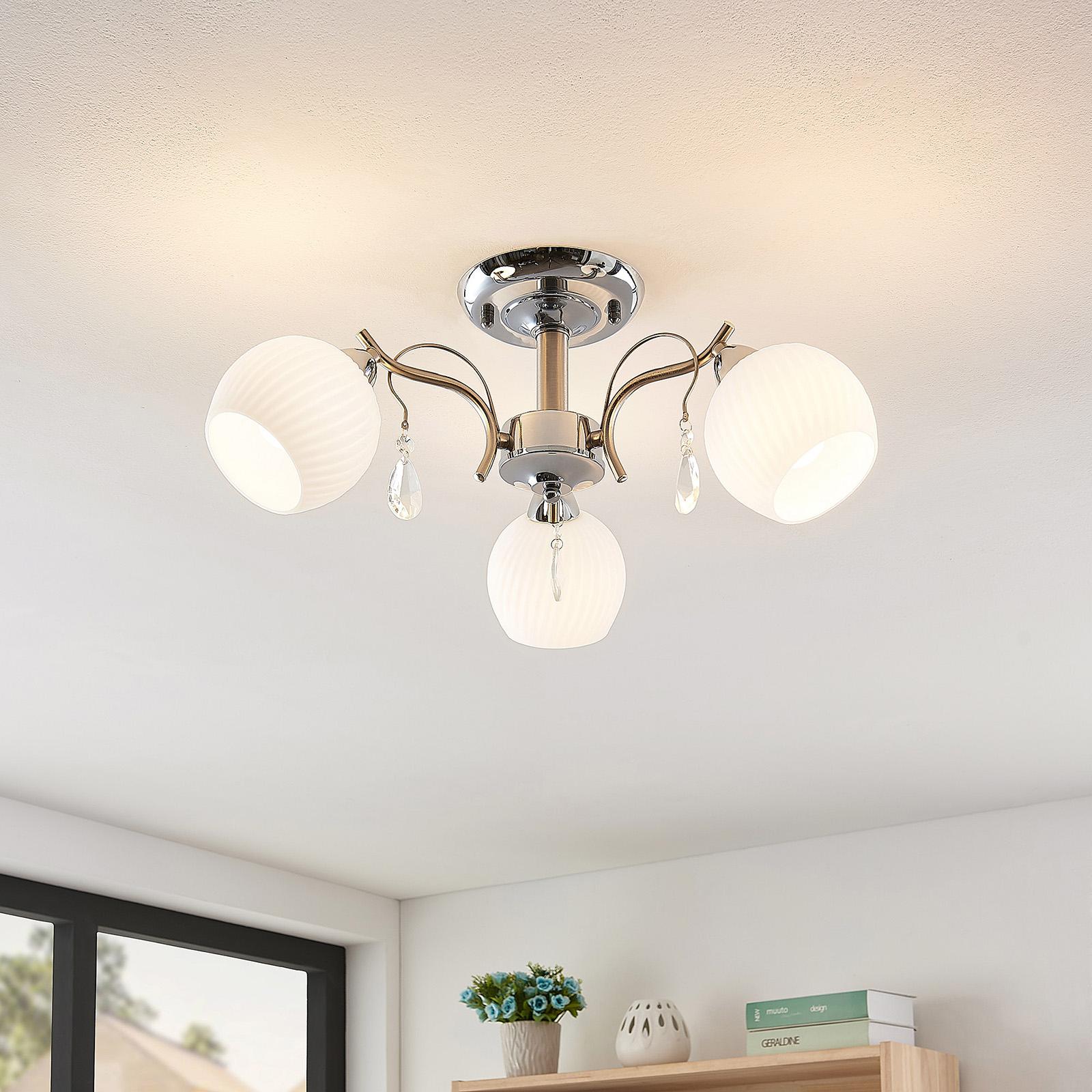 Lindby Feodora lampa sufitowa z kryształami