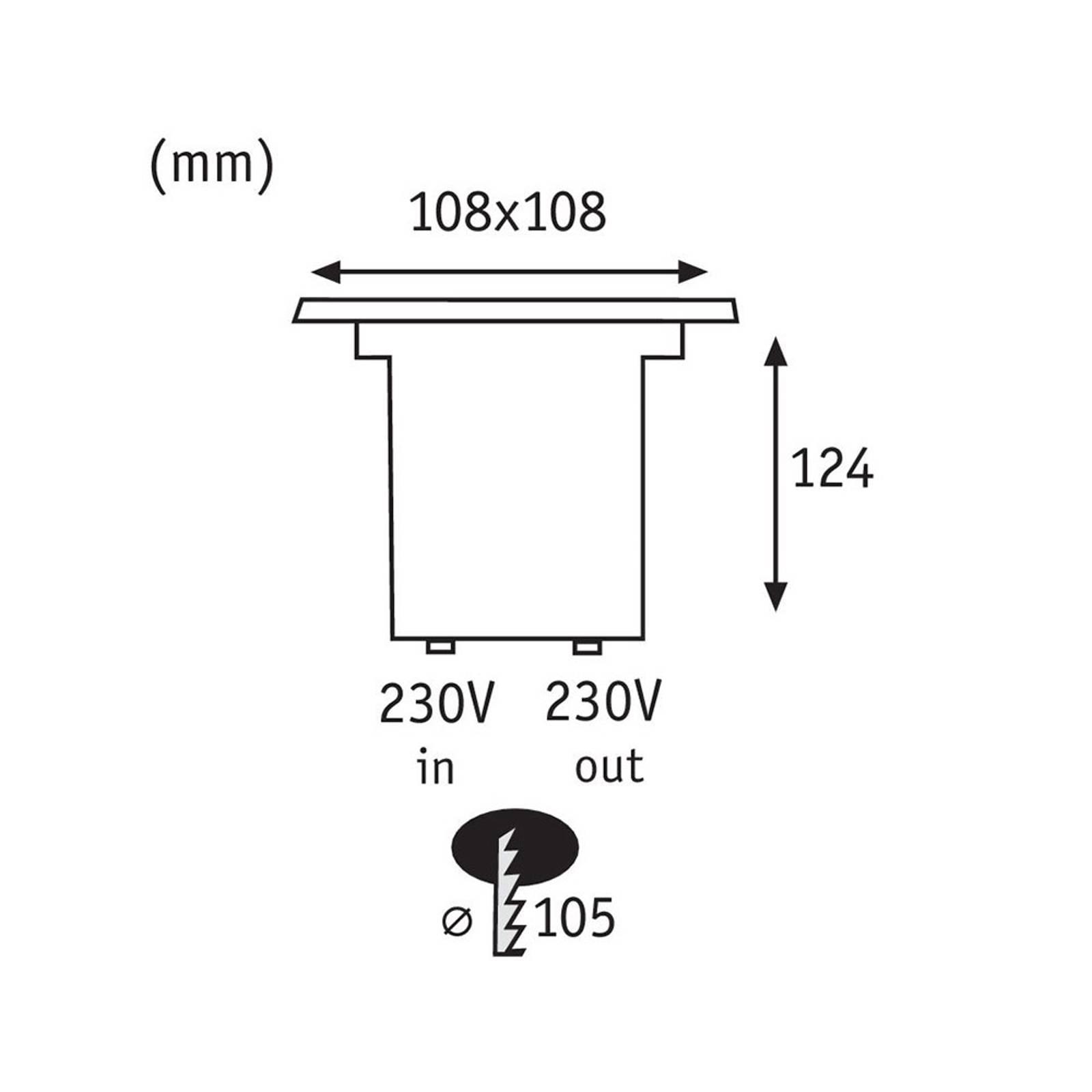 Paulmann 93993 LED grondspot inbouwlamp, hoekig