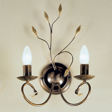 Sfeervolle wandlamp REGINE in antiek goud