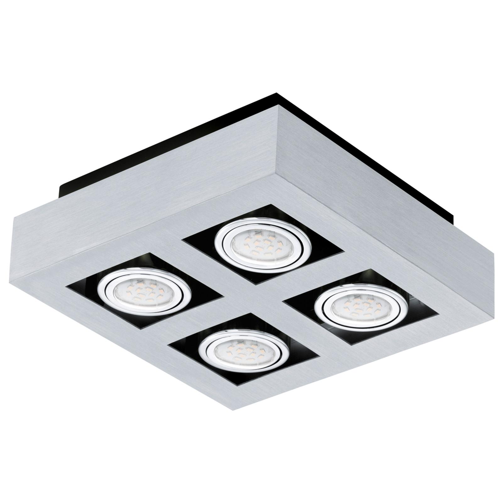 Lámpara de techo LED Locke de cuatro llamas