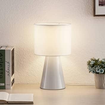 Lindby Erantie stolní lampa zcela v bílé barvě