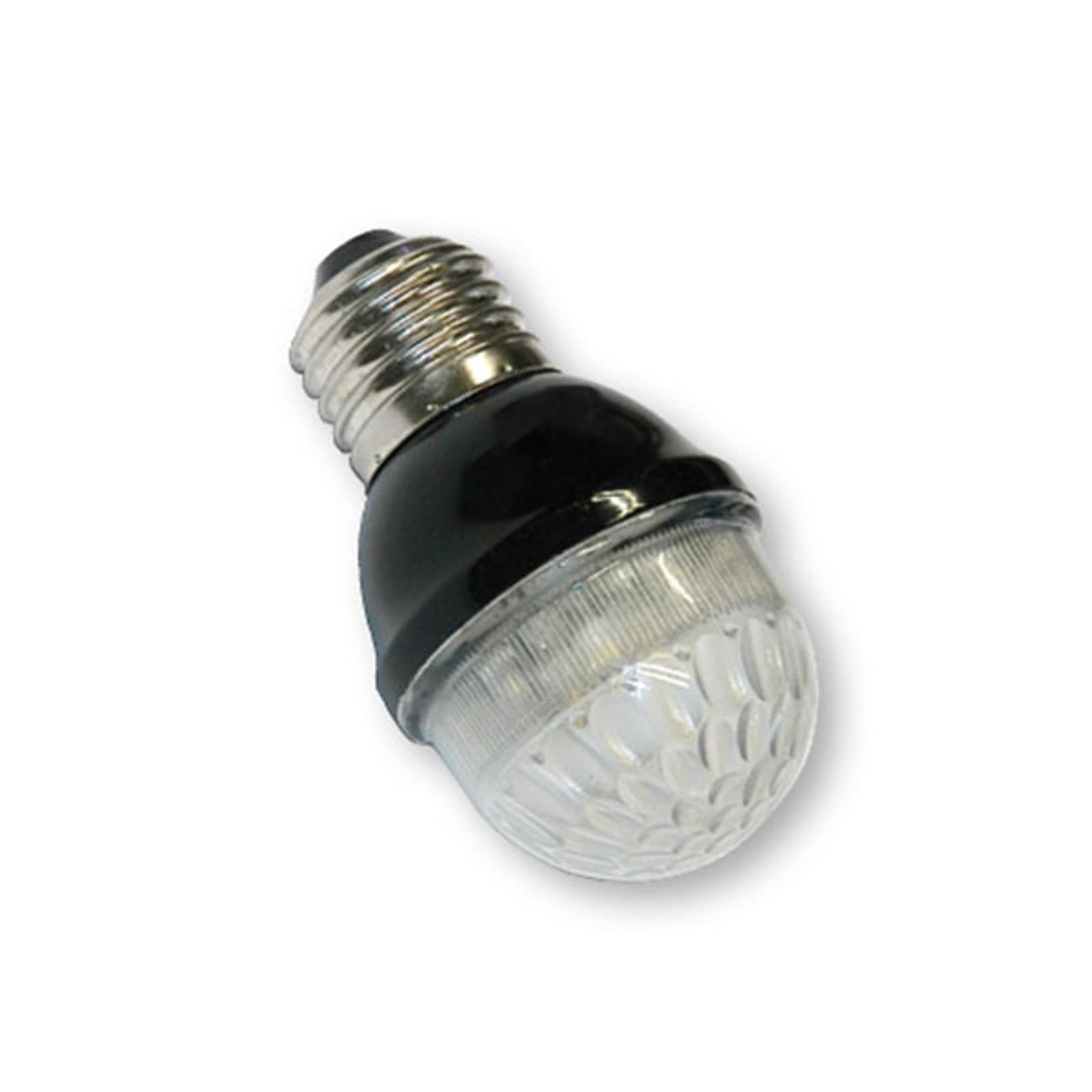E27 Golfball-Lampe 1W 5,5 VA warmweiß, klar