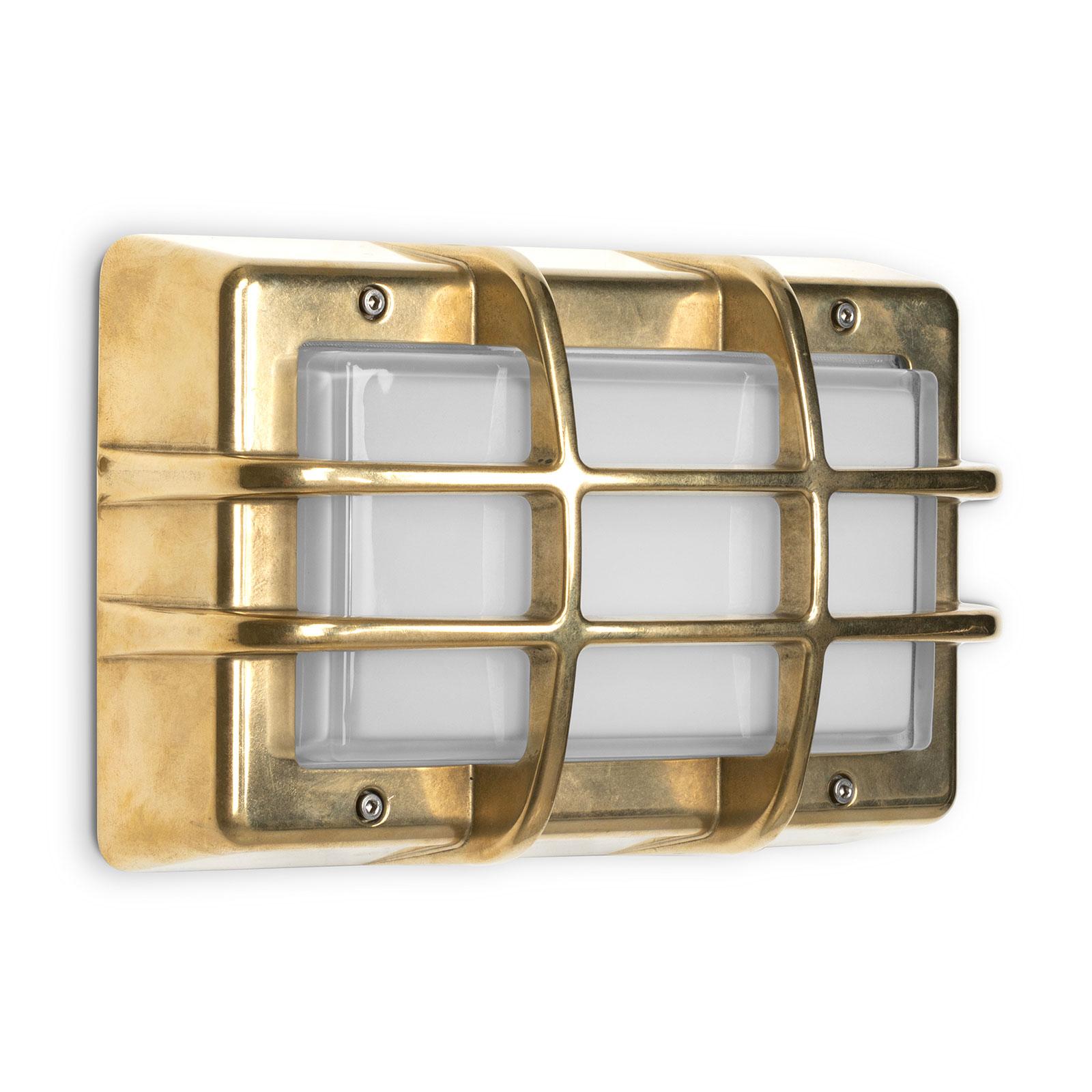Utendørs LED-vegglampe Bliz Marine, 3000K, messing