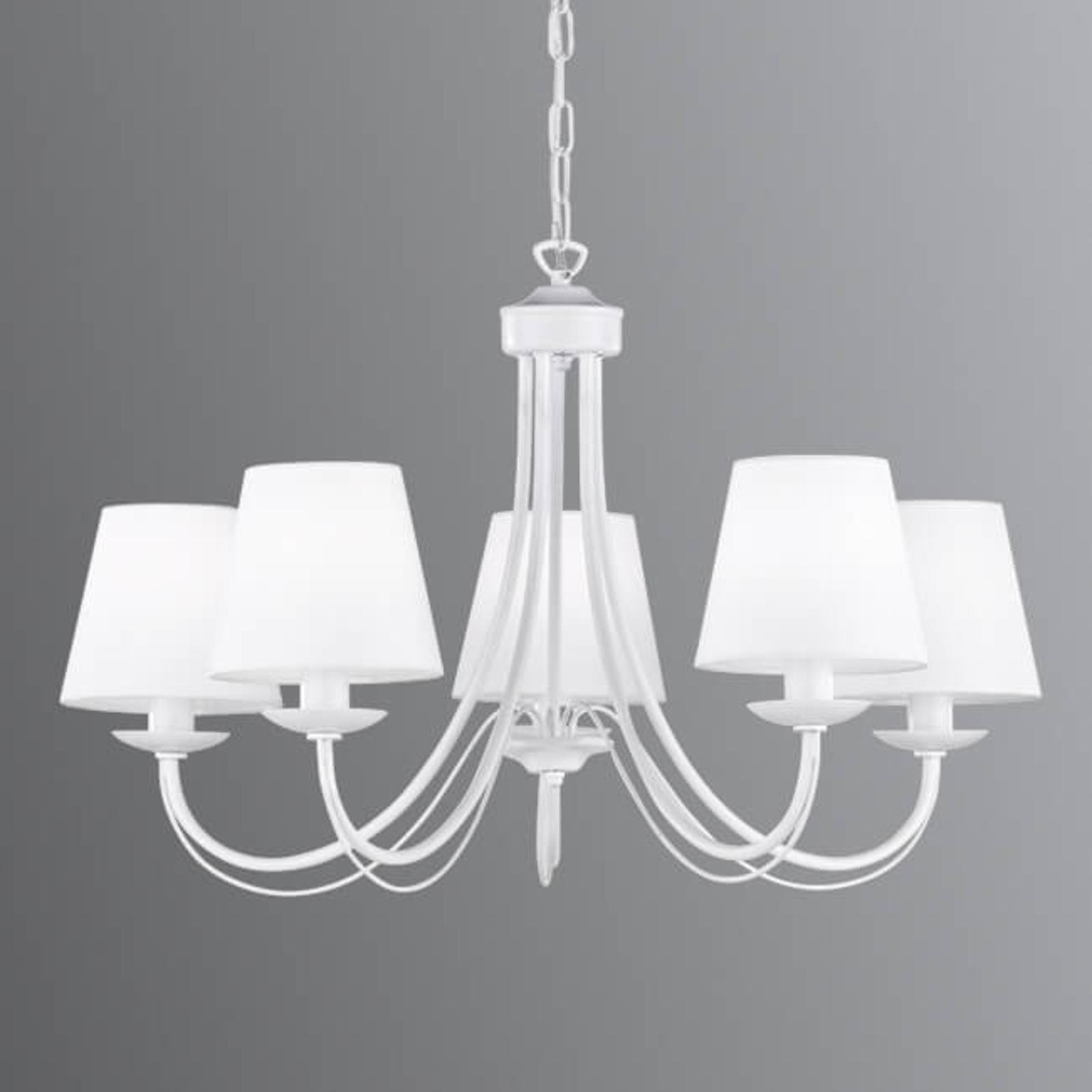 Lustr Cortez, bílý, 5 žárovky