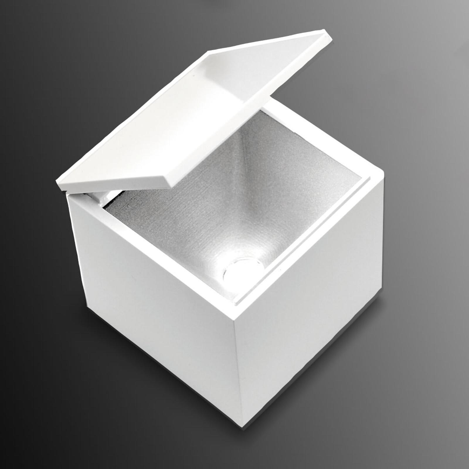 Lampa stołowa LED Cuboled, sześcian, biała