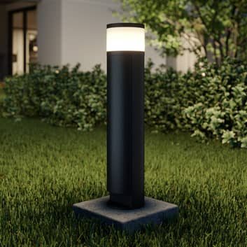 Lucande Corban baliza LED, puerta + enchufes
