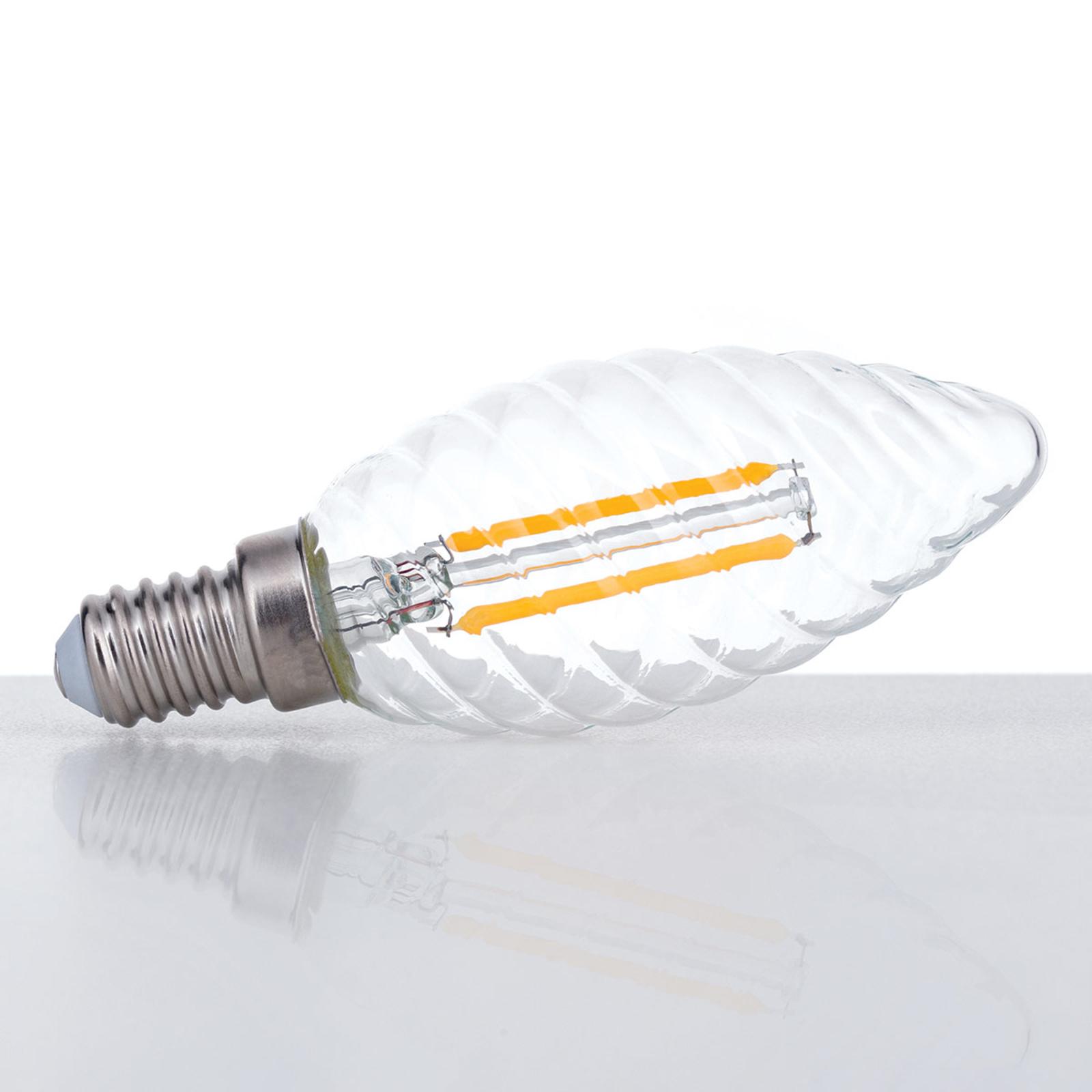 Orion E14/3W klar gedreht LED žárovky