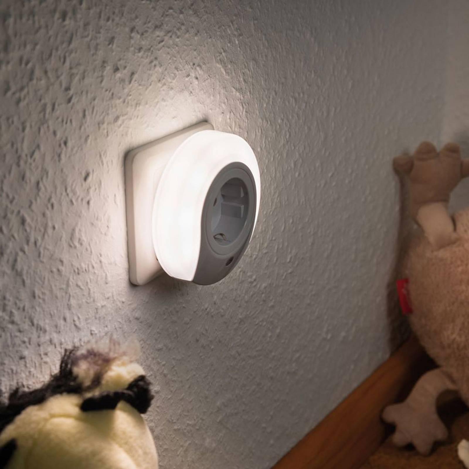 Paulmann Viby LED-natlys, med stikdåse, rund
