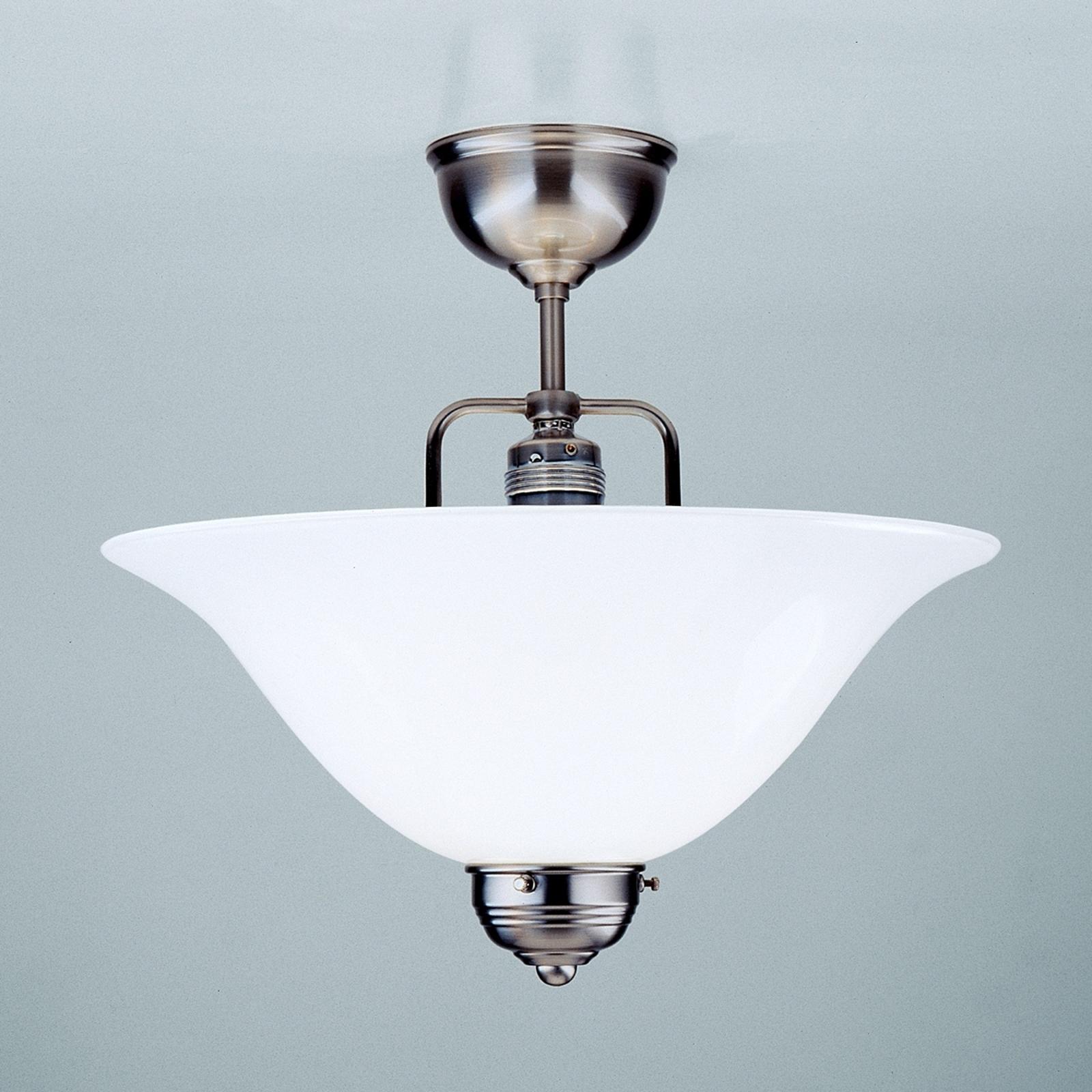 Nikkel loftslampen ROSA, håndlavet